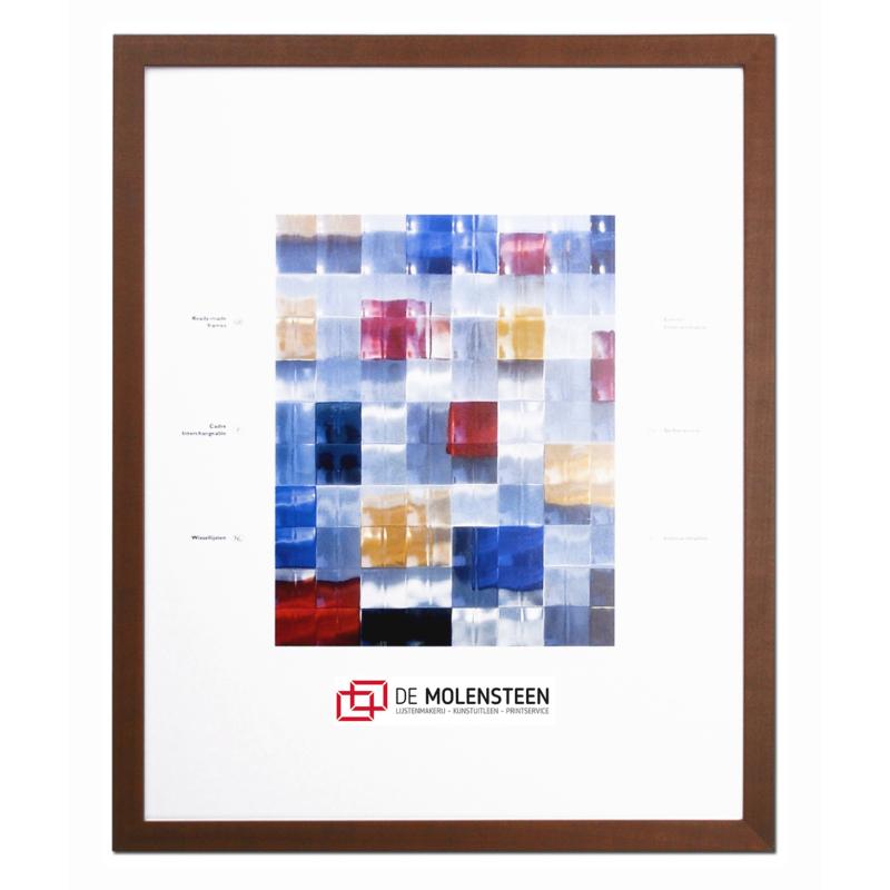Bruin Houten Wissellijsten - De Molensteen Hoorn
