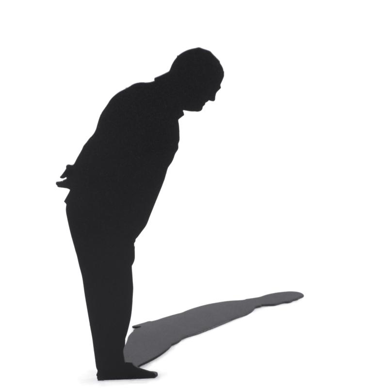 Man Looking Down - Shadow Figures - De Molensteen Hoorn