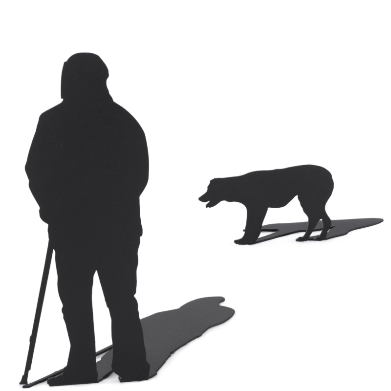 Man and Dog - Shadow Figures - De Molensteen Hoorn