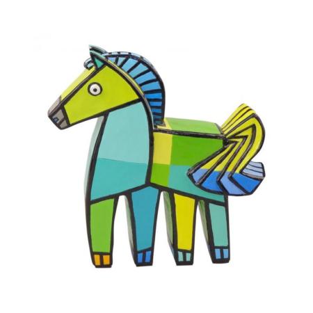 Jacqueline Schaefer - Vrolijk paard - Groen