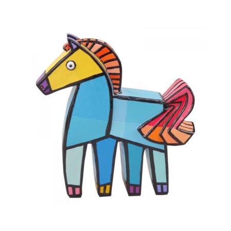 Jacqueline Schaefer - Vrolijk paard - Blauw